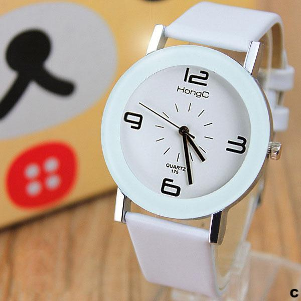 Watches-c-PU Leather Modern Watch by HongC for a Woman's Vegan Lifestyle