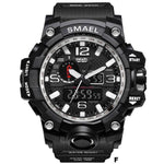 Watches-f-PU Leather Analog/LED Sports Watch by Smael for a Man's Vegan Lifestyle