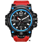 Watches-h-PU Leather Analog/LED Sports Watch by Smael for a Man's Vegan Lifestyle