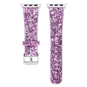 Watches-Light Purple-For 38MM-PU Leather Apple Watch Strap for a Woman's Vegan Lifestyle