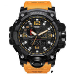 Watches-p-PU Leather Analog/LED Sports Watch by Smael for a Man's Vegan Lifestyle