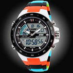 Watches-Red/Color Strap-PU Leather Digital Sports Watch for a Man's Vegan Lifestyle