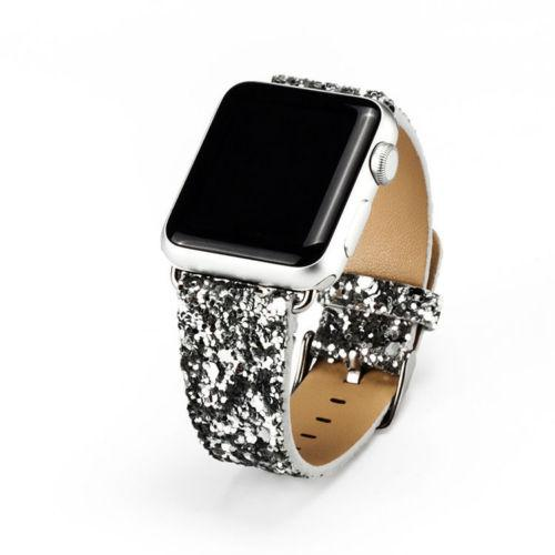 Watches-Silver-For 38MM-PU Leather Apple Watch Strap for a Woman's Vegan Lifestyle