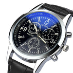 Watches-PU Leather Military Watch by Geneva for a Man's Vegan Lifestyle