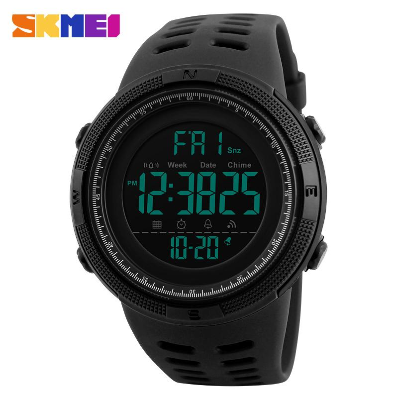 Watches-PU Leather Sports Double Time Digital Watch for a Man's Vegan Lifestyle