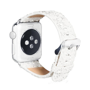 Watches-White-For 38MM-PU Leather Apple Watch Strap for a Woman's Vegan Lifestyle