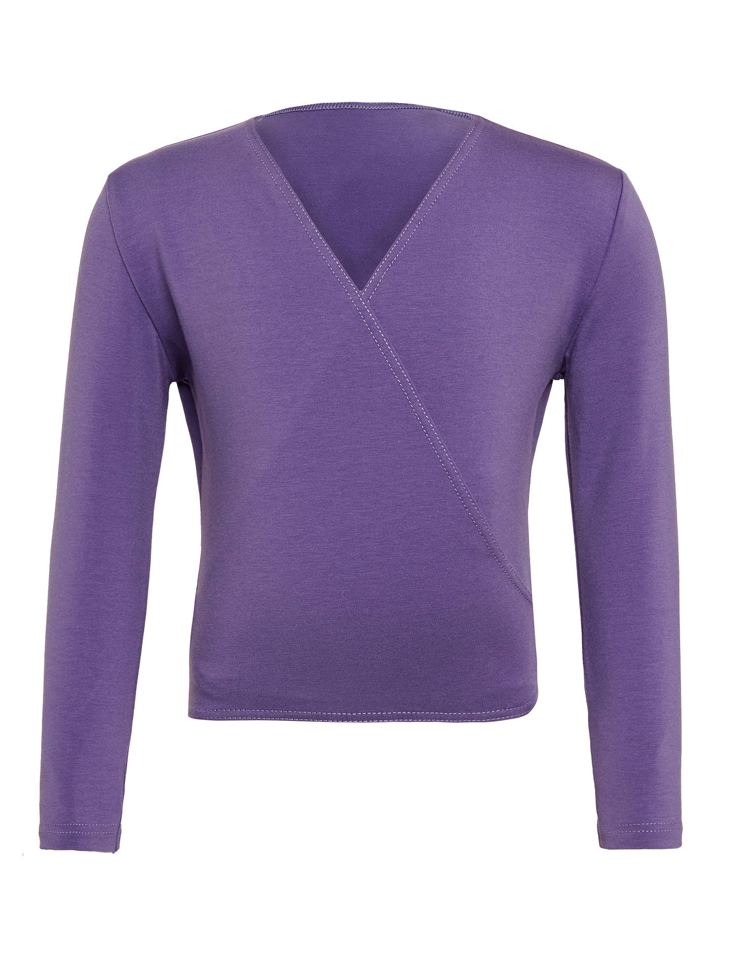 Girls PURPLE Cotton Wrap Dance Cardigan by Freeds of London Code:XOVER - Shopdance.co.uk