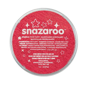 Snazaroo Sparkling Red Face Paint 18ml - Shopdance.co.uk
