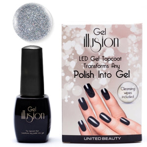 Gel Illusion Topcoat Silver Glitter 14ml by Star Nails - Shopdance.co.uk