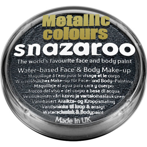 Metallic Black Snazaroo Facepaint - Shopdance.co.uk