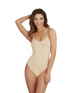 Low Back NUDE Camisole Leotard with adjustable clear strap by Capezio Code: 3532 - Shopdance.co.uk