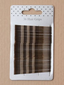 Card of 36 brown enamel 55mm kirby grips. - Shopdance.co.uk