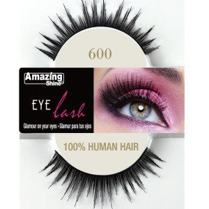 Amazing Shine Human Hair Eyelashes (600) BLACK - Shopdance.co.uk