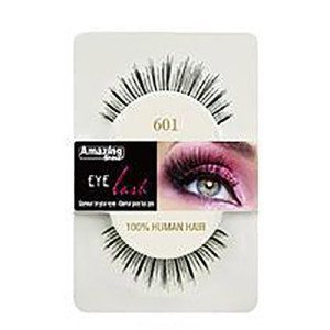 Amazing Shine Human Hair Eyelashes (601) BLACK - Shopdance.co.uk