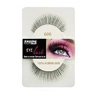 Amazing Shine Human Hair Eyelashes (606) BLACK - Shopdance.co.uk