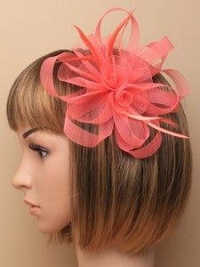 Fascinator Coral Hair Accessory. - Shopdance.co.uk