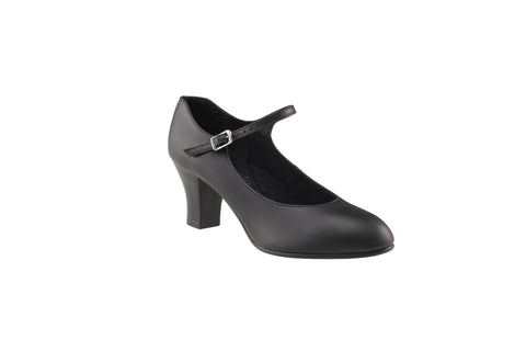 Girls-Women's Capezio BLACK Student Footlight Character Shoes Code: 650 - Shopdance.co.uk