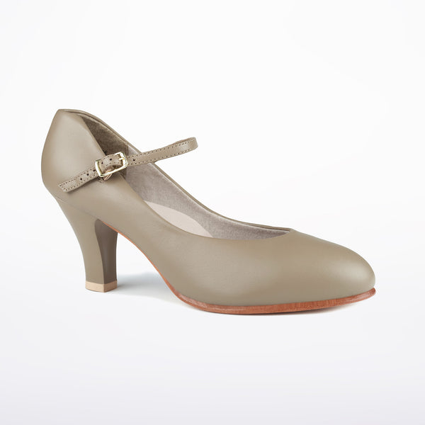 "Leather Character Shoe 3"" Heel Theatrical Footlight Tan by Capezio Code: 656 - Shopdance.co.uk"