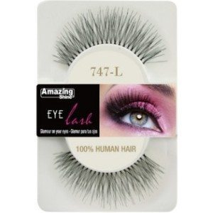 Amazing Shine Human Hair Eyelashes (747-L) BLACK - Shopdance.co.uk