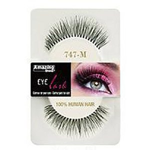 Amazing Shine Human Hair Eyelashes (747-M) BLACK - Shopdance.co.uk