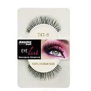 Amazing Shine Human Hair Eyelashes (747-S) BLACK - Shopdance.co.uk