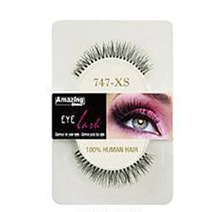 Amazing Shine Human Hair Eyelashes (747-XS) BLACK - Shopdance.co.uk