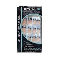 Glue on Nails Cosmopolitan with 3g Glue by Royal. - Shopdance.co.uk