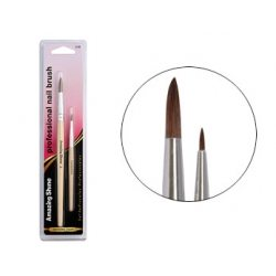Nail brushes – round nail brush - Acrylic & art brush 2pc – AS318 - Shopdance.co.uk