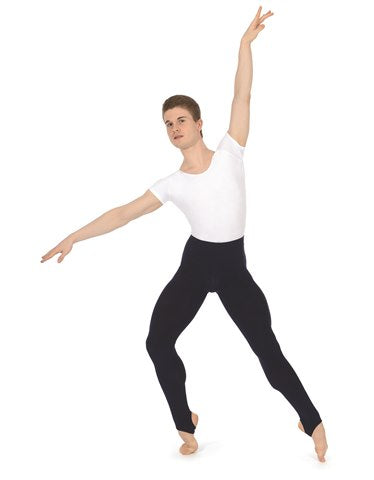 ROCH VALLEY Boys'/Men's Cotton Stirrup Tights/Leggings Code: BSTIRB3A Black - Shopdance.co.uk