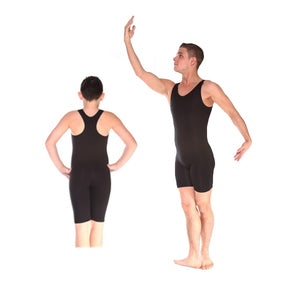 Unisex Plain Front Sleeveless T Back Dance Biketard by Arabesque - Shopdance.co.uk