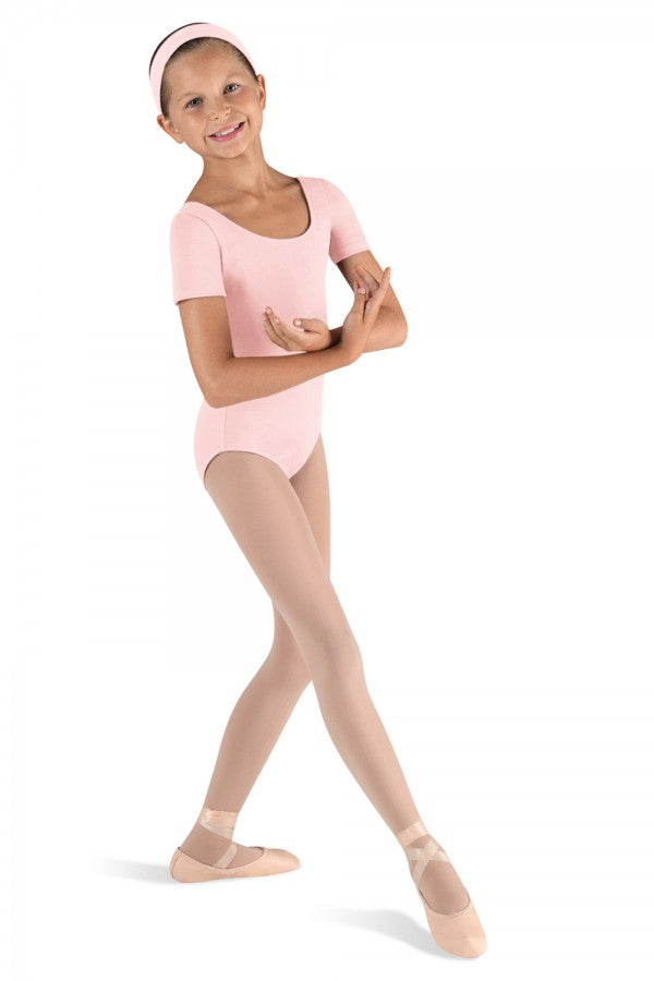 Girls Pink Cap Sleeve Cotton Leotard by Bloch Code: CL5402 - Shopdance.co.uk
