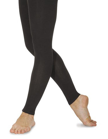 Roch Valley Footless Tights Leggings Cotton Lycra Black Dance Gym Fitness - Shopdance.co.uk