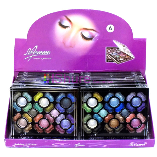 Eyeshadow Palette - Shimmering Colours by La Femme (32 Colours) - Shopdance.co.uk