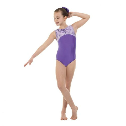 Purple/Silver Gymnastics Leotard (Hologram Foil) by Tappers and Pointers. (Gym 4) - Shopdance.co.uk