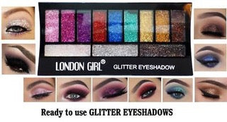Glitter Eyeshadow Palette by London Girl - Shopdance.co.uk