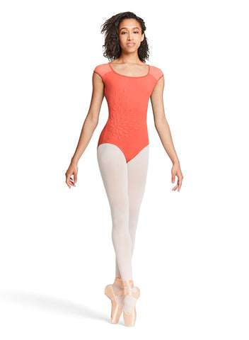 BLOCH GIRLS FLORAL MESH BOW BACK LEOTARD Mirella by Bloch M5060LM CLEARANCE - Shopdance.co.uk