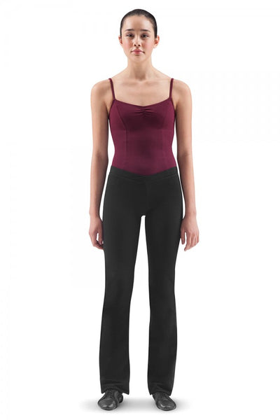 Ladies Straight Legged-V Waist-Black Jazz Pants by Bloch Code: P3618R - Shopdance.co.uk