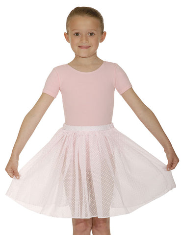 Girls Cap Sleeve PINK Cotton/Lycra Leotard  by Roch Valley Code PRIMP - Shopdance.co.uk