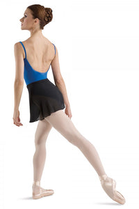 Women's Black Ballet Wrap Georgette Skirt by Bloch Code:  R5130 Ladies - Shopdance.co.uk
