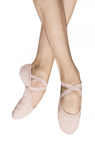Pink Girls -Womens Split Sole Canvas Ballet Shoes Code: Performa (S0284G) Best Seller - Shopdance.co.uk