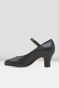 "BLACK LEATHER 2.5"" heel CABARET-CHARACTER SHOE by Bloch Code: SO306L - Shopdance.co.uk"