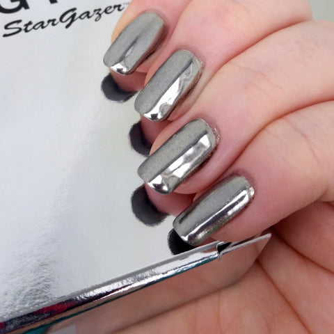 Stargazer Nail Chroming Kit Silver - Shopdance.co.uk