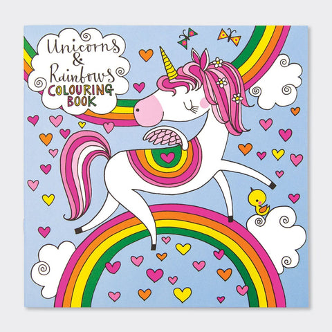 UNICORNS & RAINBOWS COLOURING BOOK