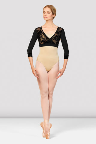 Ladies Emory Dance Wrap Front Top by Bloch Code: Z7836