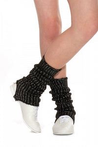 Roch Valley Women's - Girls Stirrup Dance Leg Warmers Black - Black/Silver - Shopdance.co.uk