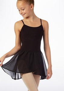 Black Ballet Skirt (Girls Georgette Mock Wrap Ballet Skirt) by Bloch Code: CR5110 - Shopdance.co.uk