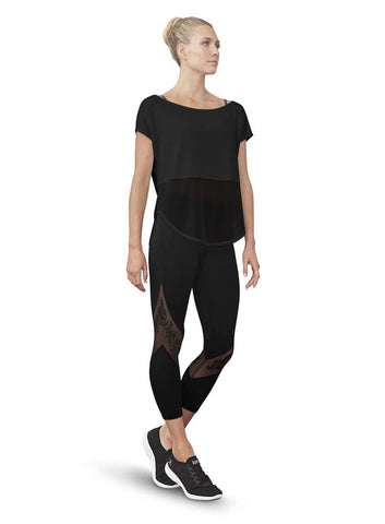 Girls BLOCH BLACK MESH PANEL 7/8 LEGGINGS Code:  FP5149 - Shopdance.co.uk