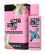 Crazy Colour Semi Permanent Hair Dye 100ml BLUE JADE - Shopdance.co.uk