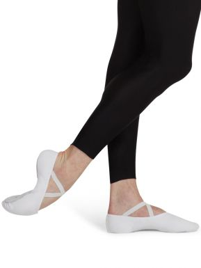 Mens White Canvas Split Sole Ballet Shoe by Capezio Code: U2031 Medium Fit. CLEARANCE - Shopdance.co.uk