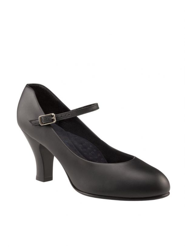 "Character Shoe 3"" Heel Theatrical Footlight  Black Leather by Capezio Code: 656 - Shopdance.co.uk"